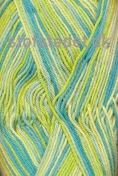 Cotton nr. 8 Print, lysegul/lime/aqua