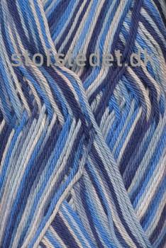 Cotton nr. 8 Print, lyseblå/marine/koboltblå