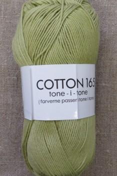 Bomuldsgarn Cotton 165 tone-i-tone i lys oliven