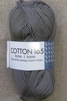 Bomuldsgarn Cotton 165 tone-i-tone i grå-brun