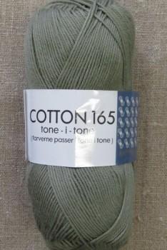 Bomuldsgarn Cotton 165 tone-i-tone i grå-grøn
