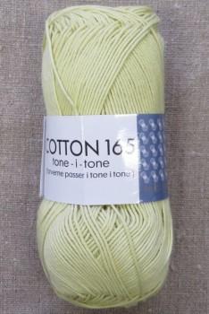 Bomuldsgarn Cotton 165 tone-i-tone i lys lime-gul