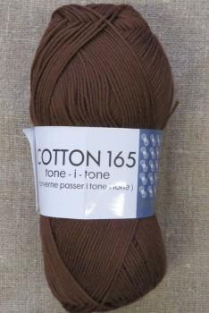 Bomuldsgarn Cotton 165 tone-i-tone i brun