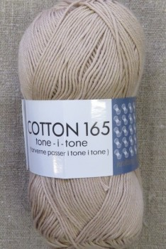 Bomuldsgarn Cotton 165 tone-i-tone i beige