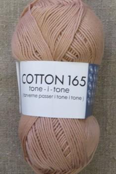 Bomuldsgarn Cotton 165 tone-i-tone i lys støvet laks
