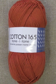 Bomuldsgarn Cotton 165 tone-i-tone i lys brændt orange