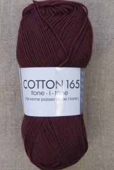Bomuldsgarn Cotton 165 tone-i-tone i vinrød