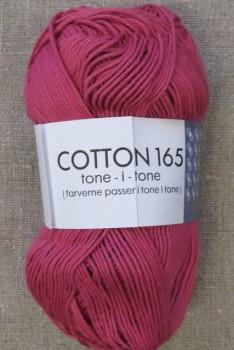 Bomuldsgarn Cotton 165 tone-i-tone i støvet pink