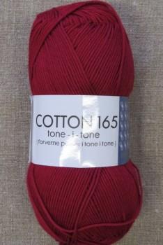 Bomuldsgarn Cotton 165 tone-i-tone i mørk rød