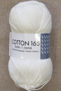 Bomuldsgarn Cotton 165 tone-i-tone i offwhite