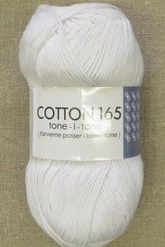 Bomuldsgarn Cotton 165 tone-i-tone i hvid