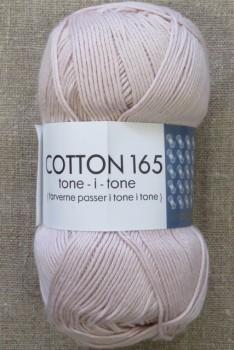 Bomuldsgarn Cotton 165 tone-i-tone i lys pudder-rosa