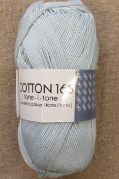 Bomuldsgarn Cotton 165 tone-i-tone i babylyseblå