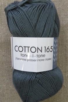 Bomuldsgarn Cotton 165 tone-i-tone i mørk grå