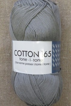 Bomuldsgarn Cotton 165 tone-i-tone i lys grå