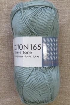 Bomuldsgarn Cotton 165 tone-i-tone i vand-grøn