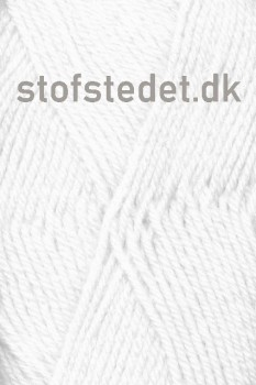 Deco acryl/uld i Hvid | Hjertegarn