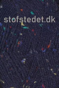 Deco mørkeblå med farvede nister | Hjertegarn