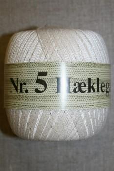 Nr. 5 Hæklegarn, off-white