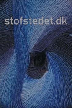 Hjertegarn - Long Colors i marine, klar blå, blå
