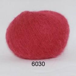 Hjerte Light Mohair fv. 6030 i støvet rød