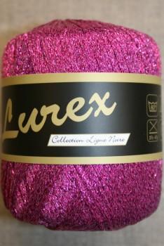 Lurex glimmer-garn, pink