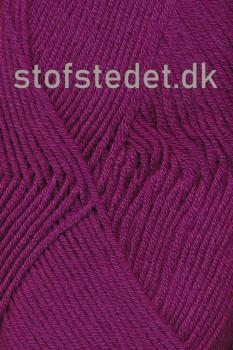 Merino Cotton - Uld/bomuld i mørk cerisse
