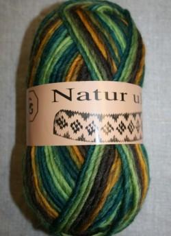 Naturuld print flaskegrøn/brun/carry