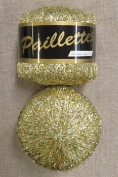Garn med palietter i guld