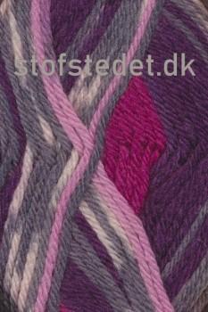 Ragg strømpegarn i rosa, bordeaux, grå-lyng og off-white