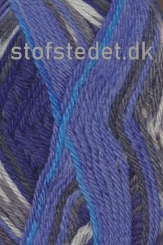 Ragg strømpegarn i blå, mørkeblå, grå og off-white
