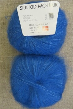 Silk Kid Mohair klar blå