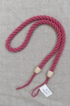 Gardin sidebånd med træknop, i lys hindbær