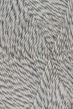 Sock 4 strømpegarn meleret knækket hvid lysegrå