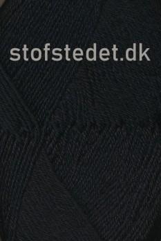 Sock 4 strømpegarn i Sort | Hjertegarn