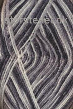 Strømpegarn Jacquard Magic koksgrå/grå/lysegrå/hvid