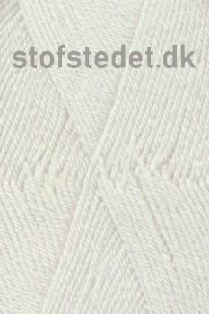 Trunte 100% Merino uld/Superwash Knækket hvid