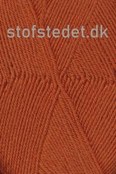 Trunte 100% Merino uld/Superwash Brændt orange