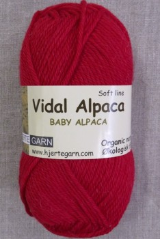 Vidal Alpaca/ Superwash Baby Alpaca i Rød