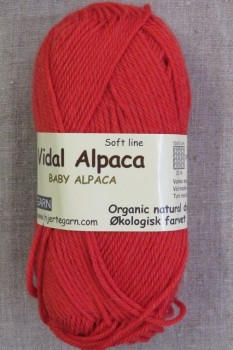 Vidal Alpaca/ Superwash Baby Alpaca i Koral-rød