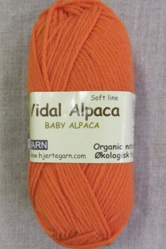 Vidal Alpaca/ Superwash Baby Alpaca i Lys orange