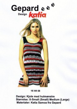 Gepard mønster kjole m/hulmønster
