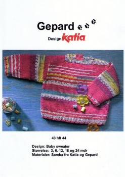 Gepard mønster Baby sweater