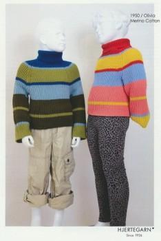 1950 Olivia - Ribstrikket stribet sweater