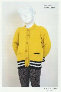 1958 Aya - Cardigan med strib i rib