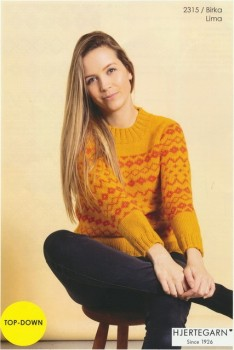 2315 Birka - Sweater med mønster i Lima