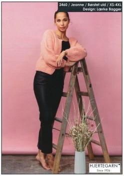 2460 Jeanne - Cardigan i Børstet uld