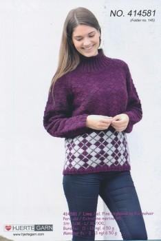 414581 Sweater m/harlekintern
