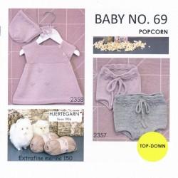 Hæfte baby no. 69 - Trøje - Bloomers - Kjole og kyse