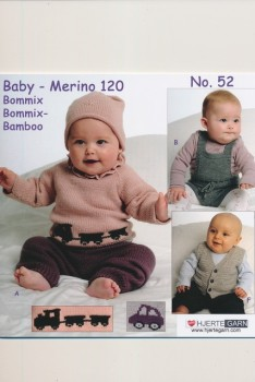 Hæfte Baby no. 52 Merino 120/Bommix/Vital